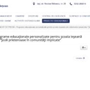 """COMUNICAT DE PRESĂ – """"Școli prietenoase în comunități implicate"""" implementat de Inspectoratul Școlar Județean Iași"""