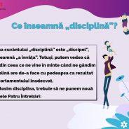 """Ce înseamnă """"disciplină""""?"""